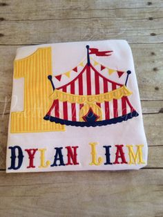Boy Circus Under the BIG tent shirt.  Perfect by PrettysBowtique