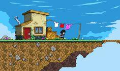 Céu Cidade Screen 2 POR Jump-Botão