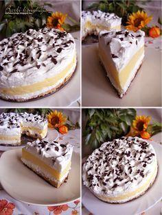 Ez nekem is tutira a kedvenceim közé kerülne! Cupcake Recipes, My Recipes, Cookie Recipes, Dessert Recipes, Hungarian Cake, Hungarian Recipes, Sweet Desserts, No Bake Desserts, Homemade Sweets