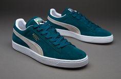 Clearance Puma Suede Classic+ - Deep Teal Green/White,Order popular and super sneakers here would bring you big surprise.