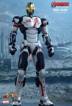 The Armor Drones were drones created by Tony Stark as part of the New Iron Legion to help the Avengers. There are five models in existence, all with the same characteristics and features with the exception of their model numbers and color accents, which are imprinted on each armor. Drone number 01 is Grey, Drone number 02 is Blue, Drone number 03 is Red, Drone number 04 is Black& Drone number 05 appears to be Gold. They appeared in Avengers: Age of Ultron, alongside the Mark 43, Mark 44…