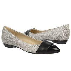 cb104802b499 Naturalizer Patricia Shoes (White Blk Blk Leather) - 6.5 M Flat Shoes