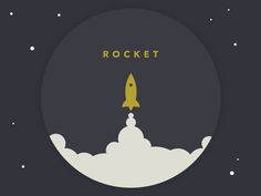 Retro Style Rocket Logo Design                                                                                                                                                                                 More