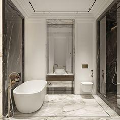 Bathroom Design Luxury, Bathroom Design Small, Interior Design Gallery, Home Interior Design, Flat Interior, Apartment Projects, Apartment Design, Toilet Design, Classic Bathroom