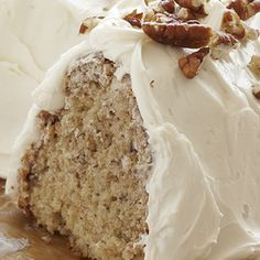 Butter Pecan Banana Cake: With this Butter Pecan Banana Cake recipe you'll create complimentary textures and flavors thanks to our Duncan Hines Butter Golden Cake Mix complete with soft, ripe bananas and crunchy, buttery pecans.