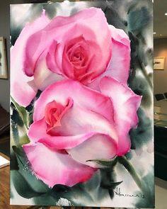 Adisorn Pornsirikarn (@adisornpornsirikarn) в Instagram: #rose #art #watercolor #painting #paint #pink #watercolour #draw #drawing #flower #flowers #цветы #watercolor #watercolour #aquarelle #waterblog #worldofartists #drawing #painting #art #artist #artshelp #artgallery #artweinspire #topcreator #inspiringwatercolors #inspiration #flowers #botanical #botanicalart #illustration #акварель #вдохновение #иллюстрация #pink