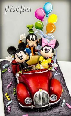 Mickey and friends goes to party cake - Cake by MLADMAN