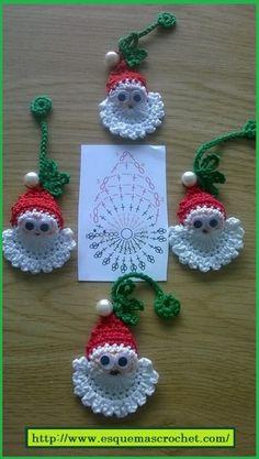 Los Esquema de crochet para artículos navideños, siempre son bien recibidos en estas fechas, ya que podemos crear hermosuras para adornar nuestra casa o ...