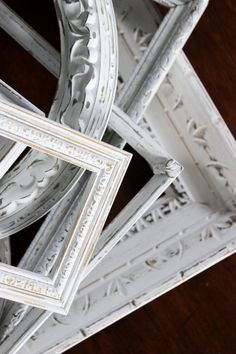 Vintage Shabby Chic Frames Wall Gallery by ElaLakeDesign on Etsy, $88.00