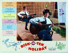 "DISK-O-TEK HOLIDAY 1966 movie on DVD. U.K./U.S. film. This is an edited version of the U.K. film, ""Just for You"" released for the American market. Some of the musical groups that appear are different from the U.K. version as well as the storyline thread that connects the songs together. Still, the film is a rock and roll knockout with the Merseybeats, The Vagrants (Leslie West), Freddie Cannon, Peter and Gordon, the Rockin' Ramrods, the Chiffons, Freddie and The Dreamers and many other…"