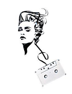 Madonna - Cassette Art - Erika Iris Simmons