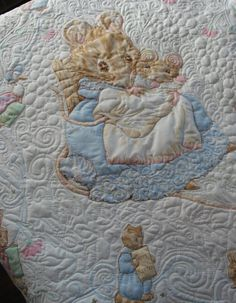 Beatrix Potter Nursery Decor | ... Baby Quilt , Nursery Decor, Newborn Blanket,Beatrix Potter Baby Quilt