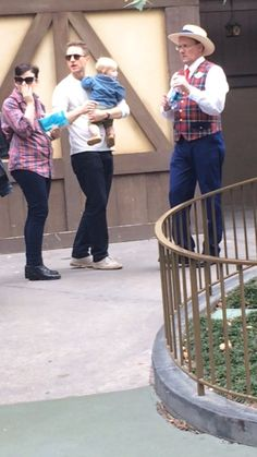 Ginnifer Goodwin and Josh Dallas and Baby Oliver at Disneyland!