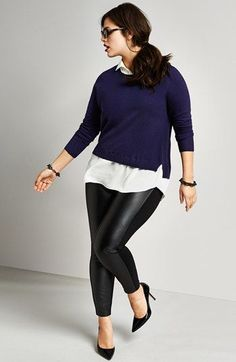 Plus size outfits with leggings can often be a staple piece in any woman with a little extra weight on her sides wardrobe, they are versatile and can be mat