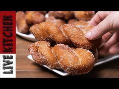 Λουκουμάδες με Ίνες σαν Τσουρέκι (θα Πάθετε πλάκα) Twisted donuts recipe Live kitchen - YouTube Greek Sweets, Greek Desserts, Pretzel Bites, Doughnuts, Kitchen Living, Cake Cookies, Sweet Recipes, Waffles, Sweet Tooth