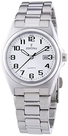 FESTINA F16375/9 - Reloj de mujer de cuarzo, correa de acero inoxidable color plata #relojes #festina