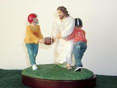 Jesus playing grid iron