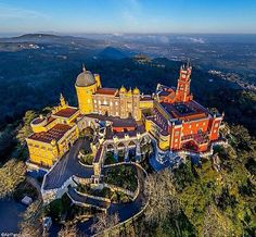 🌎Portugal:Amazing Pena Palace in Sintra just 30 minutes from Lisboa. Considered to be Europe's best castle by European Best Destinations. Visit Portugal, Spain And Portugal, Portugal Travel, Spain Travel, Places To Travel, Places To See, Saint Marin, Travel Around The World, Around The Worlds