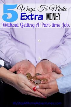 5 Ways To Make Extra Money -Need extra cash but a part-time job is out of the question? Learn 5 ways you could make extra cash wihtout getting a second job. Get Money Now, How To Get Money Fast, Ways To Earn Money, Earn Money Online, Online Jobs, Money Saving Tips, Online Job Opportunities, Making Extra Cash, Saving For Retirement