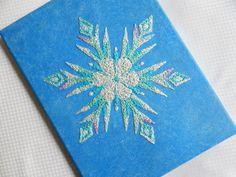 Frozen Elsa's Snowflake String Art • Disney • 9 x 12