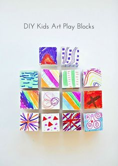 Show off your kids' art and doodles and make creative play blocks!