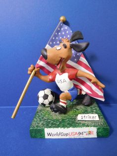 "1994 WORLD CUP USA ""STRIKER"" MASCOT CERAMIC FIGURINE  