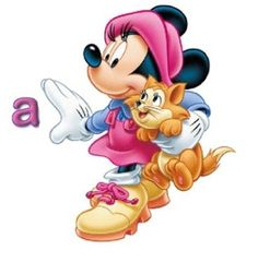 Abecedario de Minnie con Gatito. Minnie Mouse, Blogger Templates, Smurfs, Sonic The Hedgehog, Disney Characters, Fictional Characters, Creations, Alphabet, Kitty