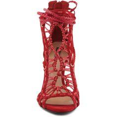 DUBIANE SCHUTZ ($260) ❤ liked on Polyvore featuring shoes, sandals, greek sandals, schutz shoes, gladiator sandals, schutz and roman sandals