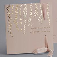 Eventail programme Diane Poudré MF22-041-P - Collection Haute Couture - Faire-part-creatif.com