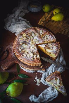 Hruškovo – Mandľový Tart Sweet Bar, Bagel, Tart, Food And Drink, Bread, Recipes, Basket, Pie, Brot