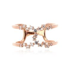 14K GOLD JEWELRY RING (58.5% GOLD) LPJ6556 RING  Weight - 2.75 Gram Cubic Zirconia - 1.2mm - 1EA. 1.3mm - 17EA. 1.7mm - 2EA LA LUCE - PRIMARY JEWELRY