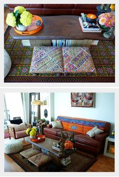 An Indian Summer: Ria's home... Awesome idea for a coffee table!