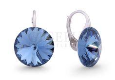 Srebrny komplet kolczyków z kryształami Swarovski ELEMENTS w odcieniu Denim Blue | SREBRO \ Kolczyki od GESELLE Jubiler
