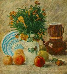 Vincent Van Gogh vase-with-flowers,-coffeepot-and-fruit-