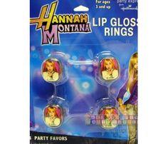 Hannah Montana Lip Gloss Rings / Favors (4ct)