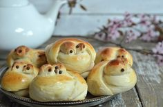 słodkie bułeczki ptaszki Bagel, Doughnut, Hamburger, Muffin, Bread, Cooking, Breakfast, Desserts, Food