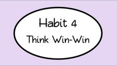 1000 images about habit 4 think win win on pinterest 7 habits leader in me and blur studios. Black Bedroom Furniture Sets. Home Design Ideas