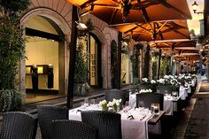 Hotel d'Inghilterra, Rome, Italy, outdoor restaurant