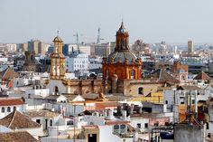 Sevilla - Cathedral, View from La Giralda / Seville is located in the heart of Andalusia belongs certainly to the most beautiful cities in Europe.