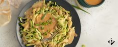 Warm Sesame-Almond Zoodles | Paleo Magazine Paleo Dinner, Dinner Recipes, Paleo Zucchini Recipes, Salmon Skewers, Cucumber Salsa, Breakfast Bake, Veggie Dishes, Fresh Ginger, 4 Ingredients