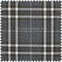 Scottish Theme Tartan Plaid Pattern Chenille Dark Grey Upholstery Fabric For Sofas Chairs Curtain Soft Furnishing - Fabric Sold By The Metre