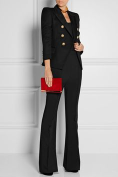 Balmain | Double-breasted wool-twill blazer | NET-A-PORTER.COM for those $2k jacket occasions