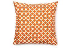 Holly 20x20 Pillow, Orange