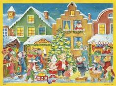 Korsch Advent Card (Set of Christmas In The City, Vintage Christmas, Advent Calander, Seasonal Decor, Holiday Decor, Days Before Christmas, Vintage Ornaments, Wonderful Time, Winter Wonderland