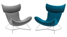 Imola Chairs - Teal and Grey  http://www.boconcept.us/armchairs.aspx?ID=83531