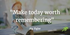 "🚀 #MondayMotivation im STARTPLATZ 🚀 ""Make today worth remembering"" Zig Ziglar  #SilikölnValley #läuftbeiuns #STARTPLATZ #entrepreneur #quote #startup #success #entrepreneurship #motivation #business"