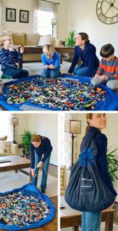 DIY Idea: Lego building floormat and storagebag in one.....