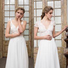 Transparent wedding dresses by Santo Encanto.