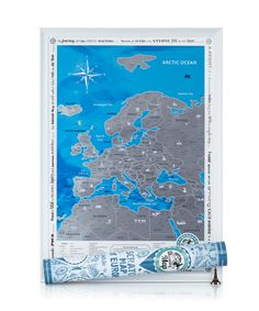 Scratch map of Europe is the best gift for those who love romantic journeys.