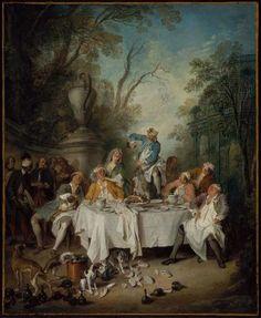"Nicolas Lancret ""Luncheon Party in a Park."" Museum of Fine Arts, Boston."